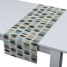 Rechteckiger Tischläufer, blau-beige, 40 × 130