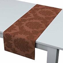 Rechteckiger Tischläufer, braun , 40 × 130 cm,