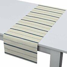 Rechteckiger Tischläufer, creme- blau, 40 × 130