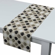 Rechteckiger Tischläufer, schwarz-beige, 40 ×