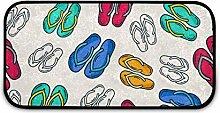 Rechteckiger, zotteliger Teppich für Kinder,