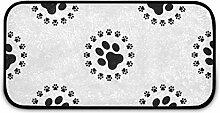 Rechteckiger zotteliger Teppich für Kinder, mit