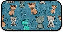 Rechteckiger zotteliger Teppich für Kinder,