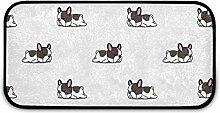 Rechteckiger, zotteliger Teppich für
