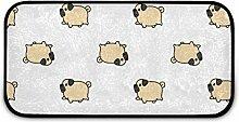 Rechteckiger zotteliger Teppich für Kinderzimmer,