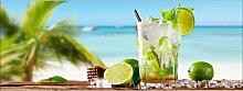 Rechteckiges Glasbild Cocktail With Lime I,