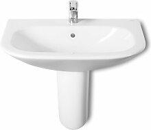 Rechteckiges Toilettenwaschbecken aus Keramik mit