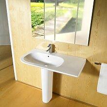 Rechteckiges Wandhalterung-Waschbecken aus