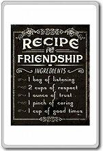 Recipe For Success, Friendship... - Motivational Quotes Fridge Magnet - Kühlschrankmagne