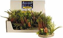 Record Anzeige künstliche Aquarium Kunststoff Pflanzen Fish Tank Wasser Pflanze Dekoration Ornament, 6 Stk