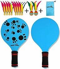 RecoverLOVE Badminton für Kinder, Holzschläger
