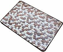 Rectangle Coral Kaschmir Badezimmer Teppich Hall Wasserabsorption Schlafzimmer Küche Balkon Anti-Rutsch-Teppich ( größe : 50*80cm )