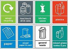 Recycling Bin Schild/Aufkleber