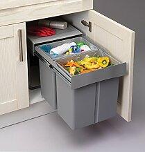 Recycling-Mülleimer zum herausziehen, schließt