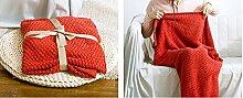 Red Baumwolle schöne Fische Decke Fischschwanz Klimaanlage Decke Sofa Decke nap Decke stricken Freizeit Decke ( größe : L )