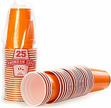 Red Celebration Orange Bechern 2500 x Party Cups -