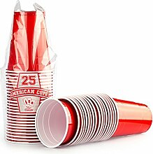 Red Celebration Red Cups 2500 x Rote Bechern -