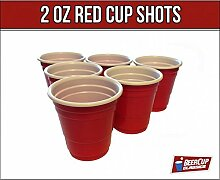 Red Cup Shots Schnapsgläser Kurzer Shot 2Oz 5cl
