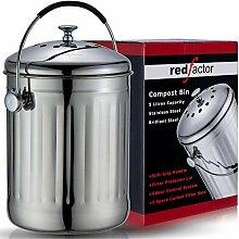 RED FACTOR Premium Kompostbehälter Küche Aus