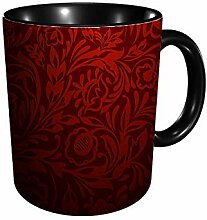 Red Floral 11 Gu Division Becher