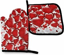 Red Heart Love B Vintage ethnische abstrakte