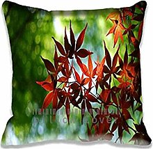 Red Maple Tree Decorative Cushion Covers Sofa