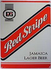 Red Stripe jamaikan beer Bier Blechschild Stabil
