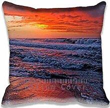 Red Sunset Sky Pillow Case Sofa Waist Throw Cushion Cover Home D¨¦cor 20x20(2 Sides)