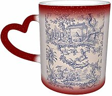 Red Toile Hitzeempfindlicher Kaffee Magic Becher