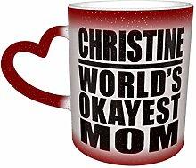 Red Worlds Okayest Mom Hitzeempfindliche Kaffee
