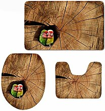 RedBeans 3-teiliges Badteppich-Set mit lustigem