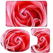 RedBeans 3-teiliges Badteppich-Set, rosa