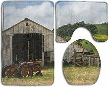 RedBeans Badezimmer Teppich Farm House Old Barn
