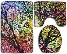 RedBeans Badezimmerteppich mit Farbigem Baum und
