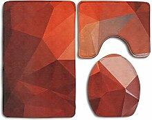 RedBeans Badezimmerteppich mit Rautenmuster,