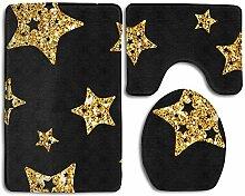 RedBeans Badezimmerteppich mit Sternen,