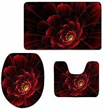 RedBeans Badezimmerteppich-Set, 3-teilig,