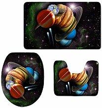 RedBeans Cool Universe Planets Badteppich-Set
