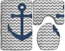 RedBeans Maritim Anker Badteppich Set Custom