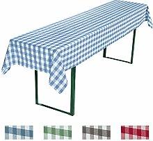 REDBEST Biertisch Tischdecke blau Größe 110x260