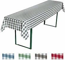 REDBEST Biertisch Tischdecke grau Größe 110x260