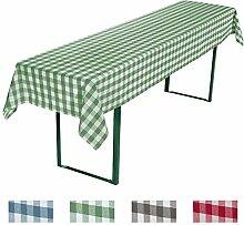 REDBEST Biertisch Tischdecke grün Größe 110x260