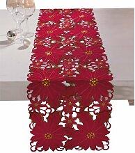 REDBEST Läufer rot Größe 40x160 cm