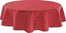 REDBEST Tischdecke rot Größe rund: 160 cm Ø