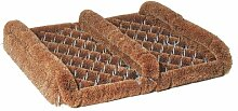 Redecker Kokos-Fußabtreter mit Seitenleisten
