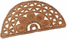 Redecker Kokos-Fußmatte, halbrund, 42x75 cm