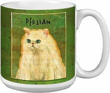 ree-free Grüße 20Oz Persische Katze von John W Golden Artful Jumbo-Becher, mehrfarbig