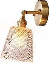 Reeseiy Einfache Nordische Kupferne Wandlampe E27