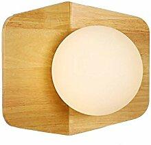 Reeseiy Wandleuchte Holz Retro Lampe Licht