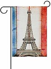 REFFW für Outdoor Lawn Decor Banner Eiffelturm